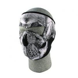 Face Mask - Full - Skull - reversable to black - Zan HeadGear