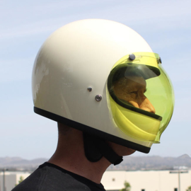 Biltwell Jet - ANTI-FOG - Bubble Visor - Yellow - Bubble Shield
