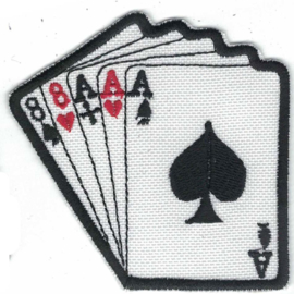 Patch - Playing Cards - Dead Man's hand - Eights and Aces