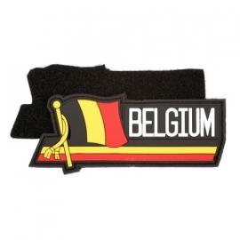 PVC & VELCRO PATCH - Waving flag - Belgische vlag - Belgium - België - la Belgique