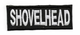 123 - WHITE PATCH - Harley-Davidson - SHOVELHEAD