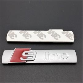 Audi Sport - S-Line - brushed aluminium badge (1 piece)
