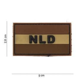 PVC & VELCRO PATCH - Dutch Flag in desert colours - Nederlandse vlag - Holland - the Netherlands [small]