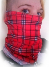 NeckTube - TubeScarf - Red Tartan