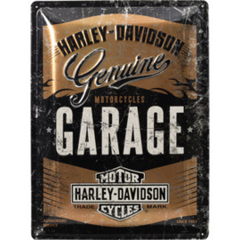 Harley-Davidson - Tin Sign - Genuine GARAGE 'Copper Metallic'
