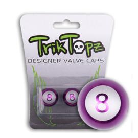 TrikTopz - Valve Caps - Eightball - Purple