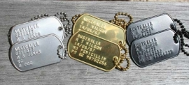 Dog Tag - Stainless Steel - Silver - TEXT & CHAIN INCLUDED