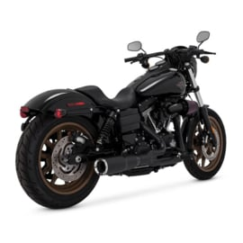 Vance & Hines  HI-OUTPUT 2-INTO-1 SHORT For Dyna® - Black Exhaust