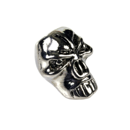 BEADS: ANGRY SKULL SET of 5 - for Paracord and other