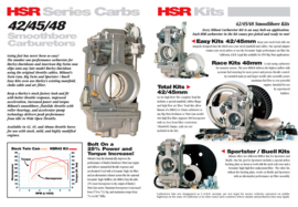 Mikuni HSR42 'Easy' Carburetor Kit - 25% more power! EVO / TWIN CAM