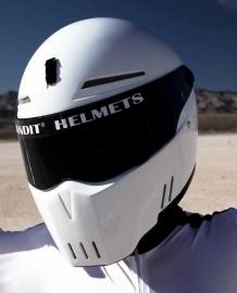 Bandit Alien 2 White Streetfighter Helmet ECE 22.05