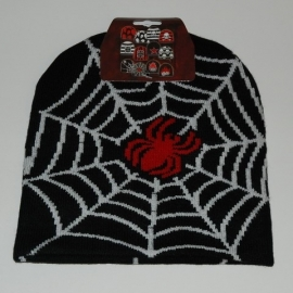 Beanie - Red Spider & Web