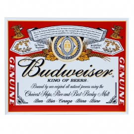 Metal Plate - Budweiser