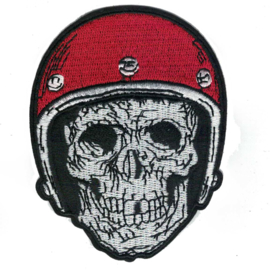 Patch - Biker SKULL with RED helmet