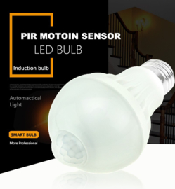 Security LED - PIR motion bulb E27 - 5W - wide angle