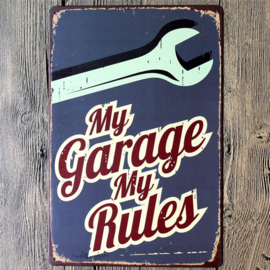 Metal Plate - My Garage My Rules - Tool