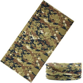 Digital BROWN Camouflage - Tube NeckTube