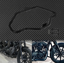 Black SHIELD Crash Bars - Harley-Davidson Sportster