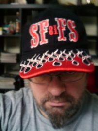 SF81FS - Support Hell`s Angels Forever - BaseBall Cap with Flames