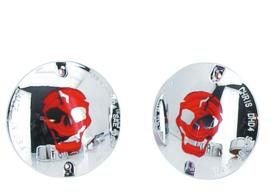 Chrome Skull lens kits (2x) - Custom Lights by Chris! - FLH style Turn Signals