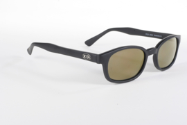 Sunglasses - Classic KD's - Gold Mirror - FLAT black frame