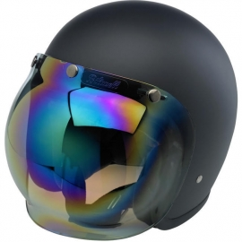 Biltwell Jet - Bubble Visor - Rainbow Mirror Shield (anti-FOG)