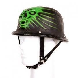 German Helmet, 3D - Green Devil Skull
