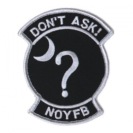 159 - PATCH - NOYFB = None Of Your Fucking Business