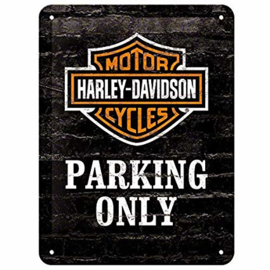 Metal Plate - Harley-Davidson - PARKING ONLY - 3D
