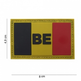 064 - Patch - BE Vlag België - (PVC-VELCRO)