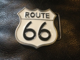 B122 - Belt Buckle - Route 66