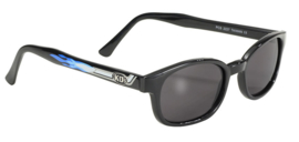 Sunglasses - Design KD's - SMOKE - Blue flames and exhaust - PIPE