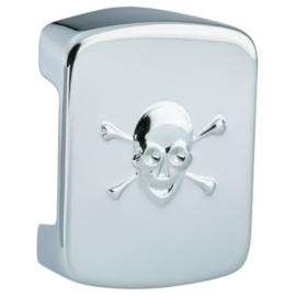 Coil Cover - Skull & Crossed Bones - Chrome