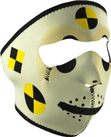 Face Mask - Full - Crash Test Dummie - reversable to black - Zan HeadGear