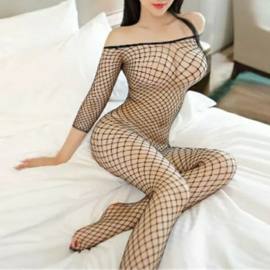 FISHNET BODYSTOCKING - O/S BLACK