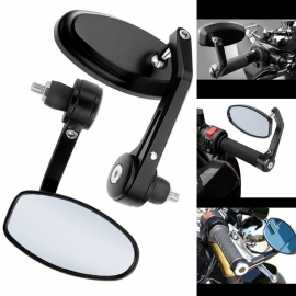 BAR-END MIRRORS, BLACK - 1 PAIR -  LEFT & RIGHT