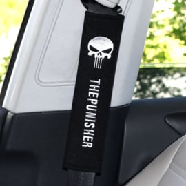 Seat Belt Shoulder Protector Pads - The Punisher / Carbon