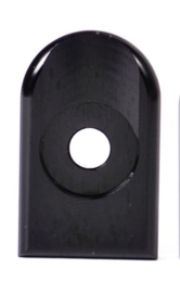 Knurled Seat Screw Bolt + Seat Tab Mount Knob Cover Set - Black