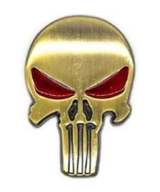 The Punisher - METAL DECAL /  STICKER - Bronze / Brass