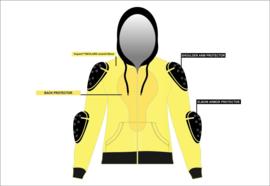 Protective LumberJack Shirt - Black & Yellow Checker - Motorshirt