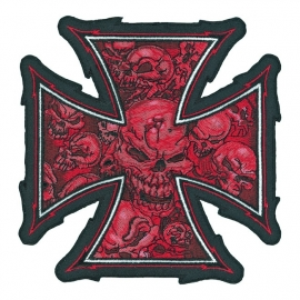 000 - BackPatch - Red Skull Cross - XXL