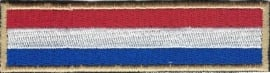 GOLDEN PATCH - Flash / Stick - Dutch flag - Nederlandse vlag - the Netherlands - Holland