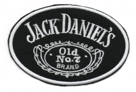 012 - Patch - Jack Daniels  11cm OVAL - Old no.7 Whiskey