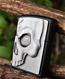 Phantom Zippo - 3D Half Skull