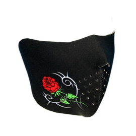Lady Half Face Mask - Black & Roses