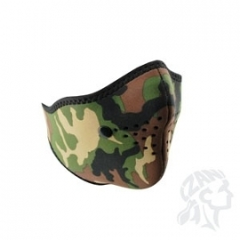 Face Mask - Half - Woodland Camouflage - Zan HeadGear + Filter