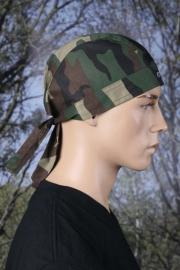 Bandana Cap - Camouflage Woodland