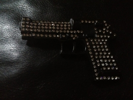 B139 - Belt Buckle - Pistol Bling
