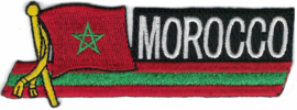 350 - Patch - Waving Flag - MOROCCO - Marokko