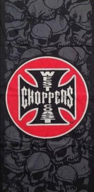 West Coast Choppers - Cross & Grey Skulls - Tube / Tunnel